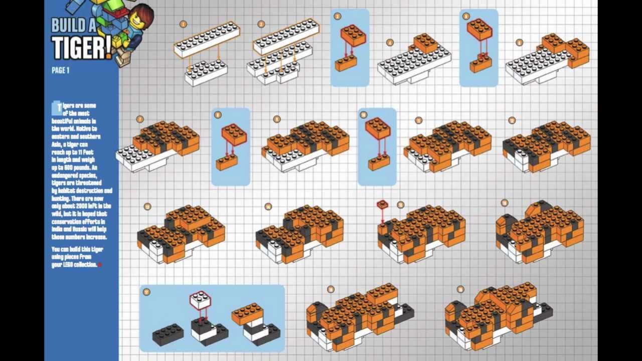 How To Build Lego Tiger Instructions Youtube