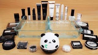 Black vs White - Mixing Makeup Eyeshadow Into Slime! Special Series 75 Satisfying Slime Video