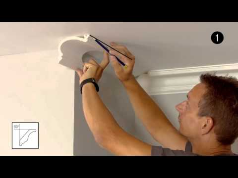 Coving & Cornice Mouldings - Cutting an External Corner