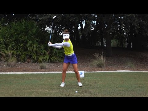 MINJEE LEE 120fps SLOW MOTION & FULL SPEED FACE-ON DRIVER GOLF SWING 1080p HD Mp3