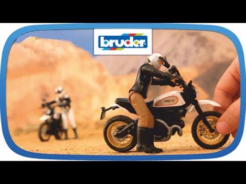 Spielzeugautos BRUDER 63050 Scrambler Ducati Cafe Racer mit Fahrer