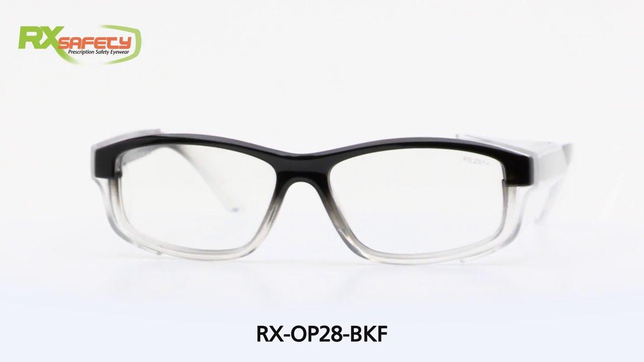 7b9e3eb8a6 Prescription Safety Frames - Model RX-OP-28BKF - YouTube