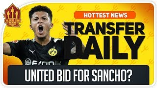Man Utd BID For SANCHO? Man Utd Transfer News