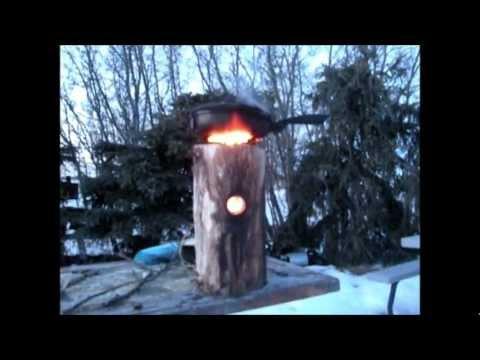 Wooden Wood Rocket Stove.wmv - YouTube