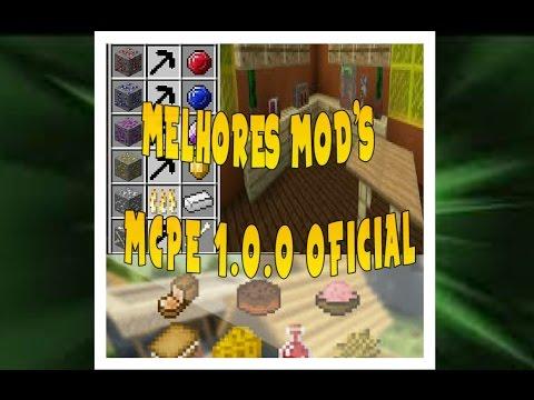 MELHORES MOD'S PARA O MINECRAFT PE 1.0.0 OFICIAL! [ MCPE 1.0.0 ]