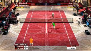 Virtua Tennis 3: Custom Player (All Around) and David Nalbandian V.S. King (LV.0) and Duke(LV.0)