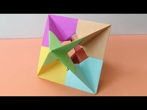 How To Make 3D Cube With Paper - 3D Illusion Origami   Make Cube Illusion   Origami Cube