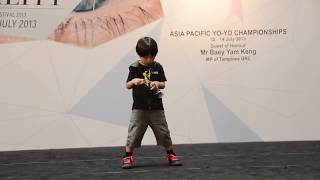 Amazing kid with awesome yoyo tricks..