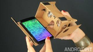 صناعة نظارة 3D تعمل على جميع الهواتف . نظارة الواقع الافتراضي Cardboard