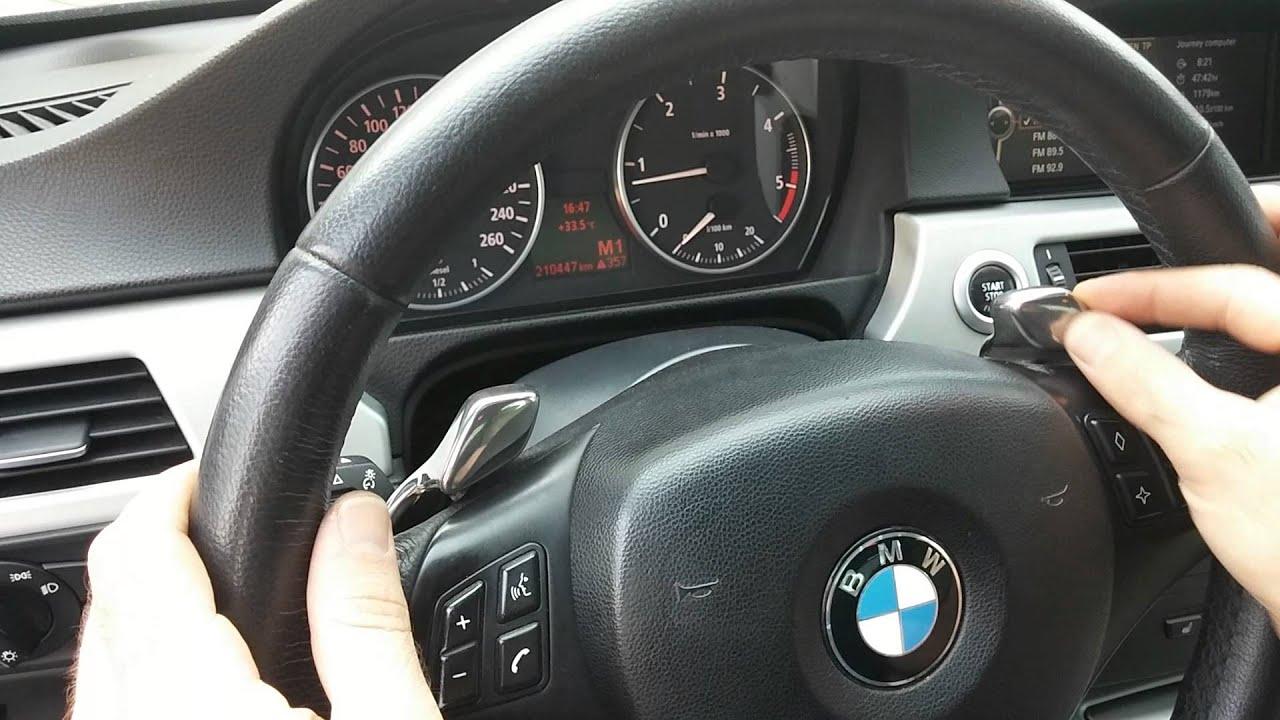 E90 Steering Wheel Paddle Shifter Youtube