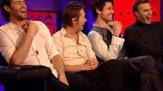 Jonathan Ross asks Take That if Robbie will rejoin - BBC One