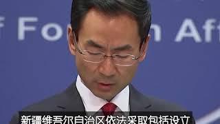 """耿爽: 新疆设立""""再教育营""""目的是反恐和去极端化"""