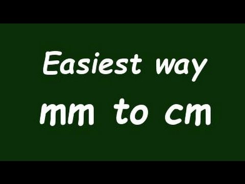 Convert Milimeter To Centimeter Mm To Cm Formula