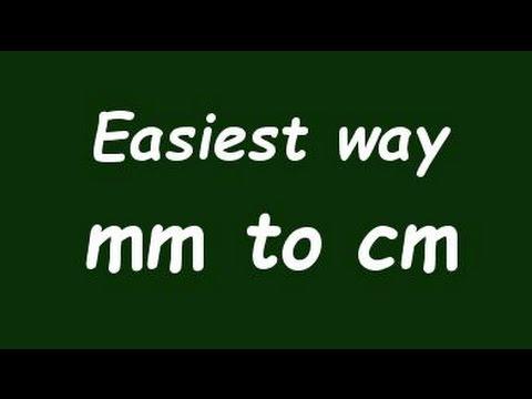 Calculator mm to cm.
