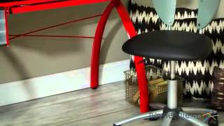 Studio Designs Red Futura Glass Top Drafting Station - Product Review Video