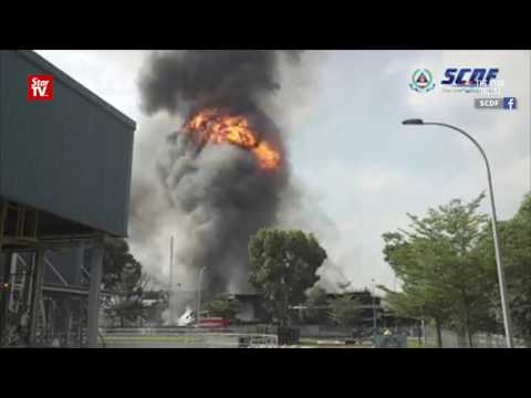 Fire, explosions at Tuas plant