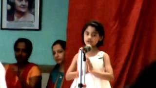 RITU - DE DI HAME AZADI - SUNG IN SCHOOL ON 14.08.2014
