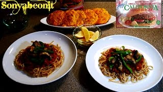 Meals For 2 | Amy's Organic Veggie Burger |  Spaghetti