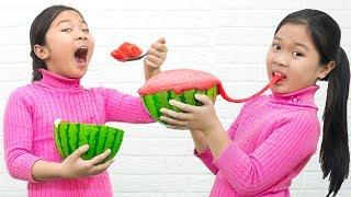 Cách Làm Slime Dưa Hấu DIY Slime Watermelon - Trang Vlog