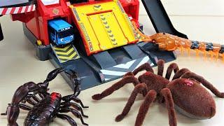 巨大な昆虫がタヨにイタズラ!消防署、きかんしゃトーマス、チャギントン、カーズ