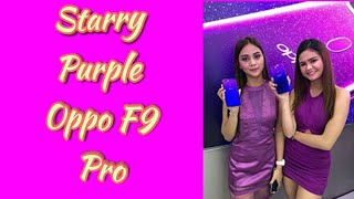 Starry Purple Oppo F9 and Oppo F9 Pro