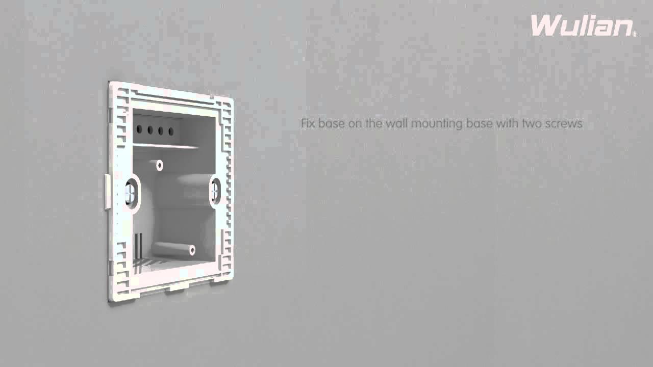 light switch of ZigBee wireless home automation - YouTube