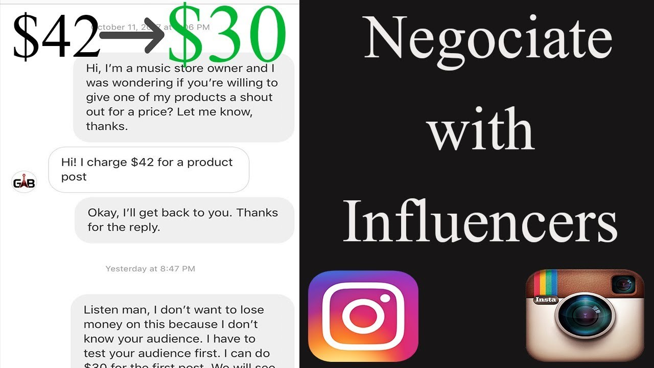 how to negotiate with insta influencers w examples shopify