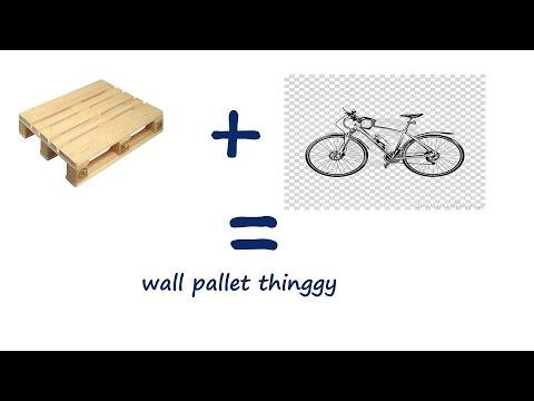 ep#11 Pallet wood bike wall mount
