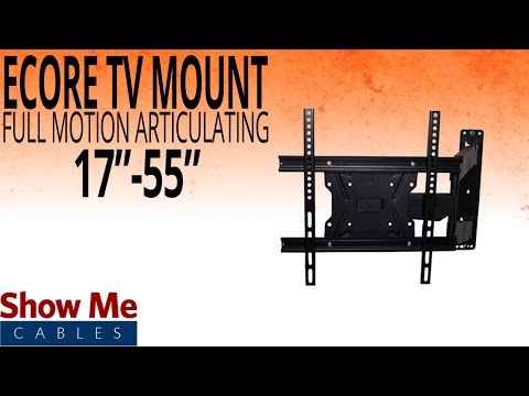 """how-to-install-a-full-motion-articulating-tv-mount-for-tv's-between-17""""-to-55""""-#17-415-002"""