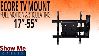 How To Install A Full Motion Articulating TV Mount For TV's Between 17
