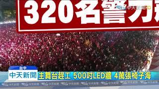 20191229中天新聞 大團結! 韓台中造勢晚會 拚50萬人集結