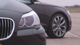 audi a6 3 0 tfsi vs bmw 535i english subtitled