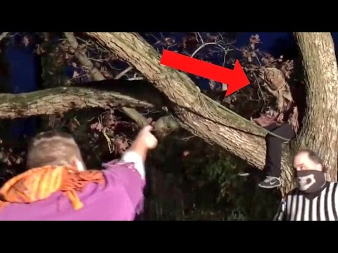 YOUTUBERS STALKED BY CREEPY SCARECROW!