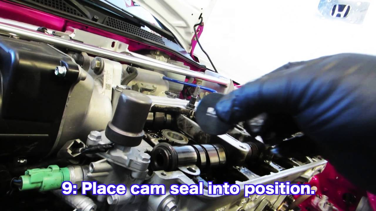 Leaky Cam Seal FIX!!!! B SERIES VTEC HEAD! HSG EP  4-13