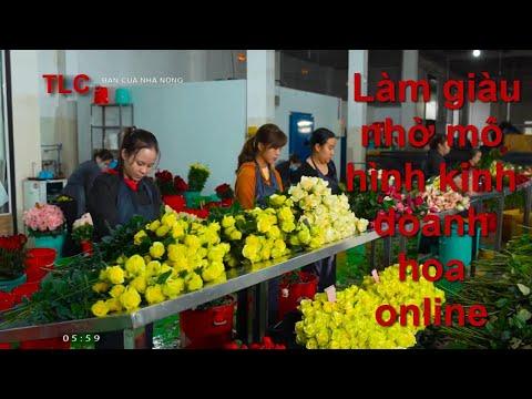 Làm giàu nhờ mô hình kinh doanh hoa online