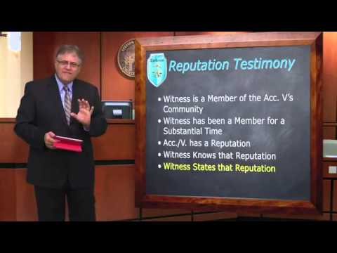 Professor Charles H. Rose III discusses relevancy and character