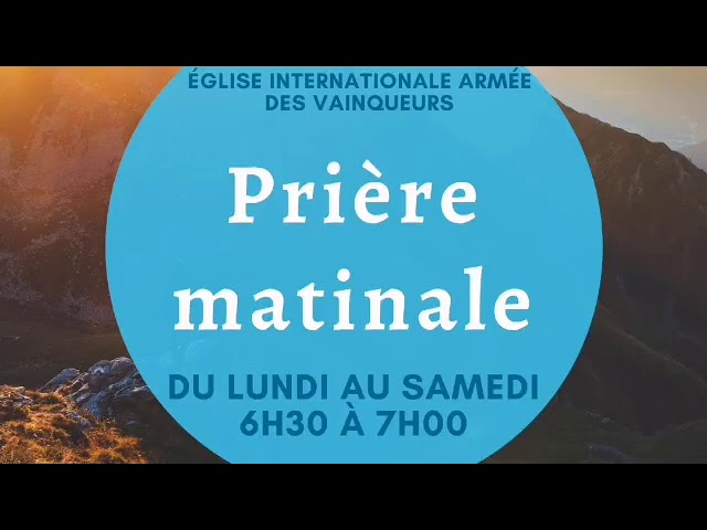 Prière matinale du 18/09/20 - Pst. Oumar Sarr
