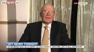 Former Lib Dem Leader Menzies Campbell On TV Election Debates