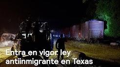 Entra en vigor nueva ley antiinmigrante en Texas - Despierta con Loret