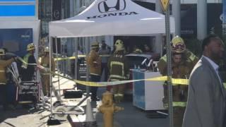 سائق يدهس 7 زائرين بمعرض لوس أنجلوس أثناء اختبار سيارة.. فيديو