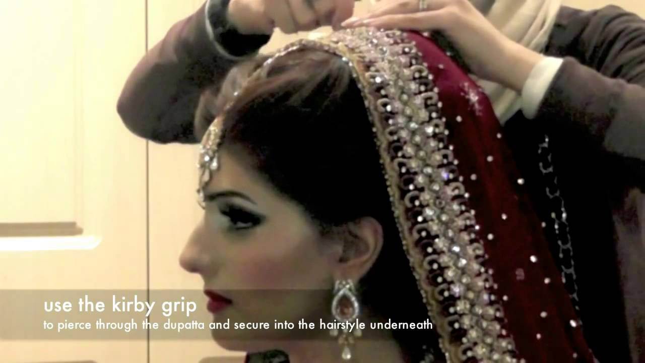 dupatta setting, secure & pin a bridal dupatta easily - youtube
