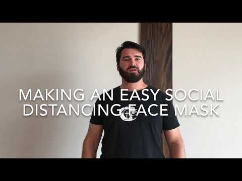 Easily Make A Social Distancing Face Mask
