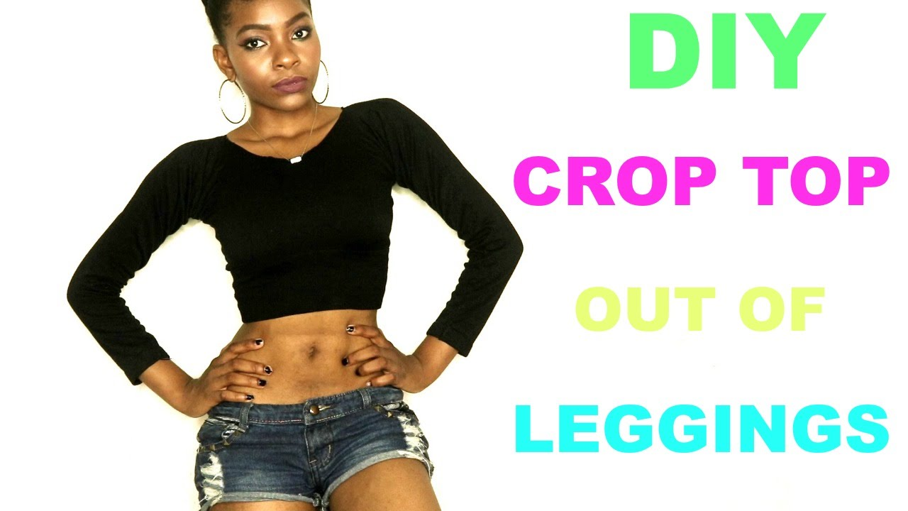 1189940077298 DIY  How to Turn Your Leggings into a Crop Top - YouTube