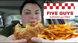 FIVE GUYS MUKBANG EATING SHOW EATING NOISES AND LICKING FINGERS!