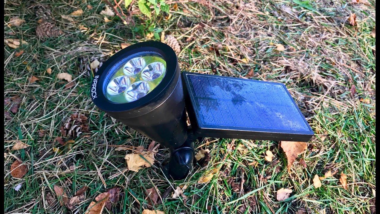Inarock 2 In 1 Solar Powered Led Outdoor Garden Spotlight