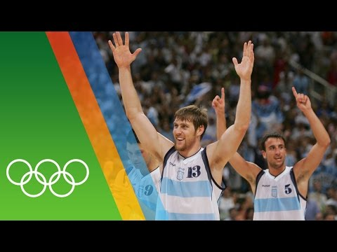 Argentina win Basketball gold at Athens 2004 | Epic Olympic Moments