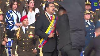 Así fue la rápida reacción de la seguridad de Maduro durante el atentado thumbnail
