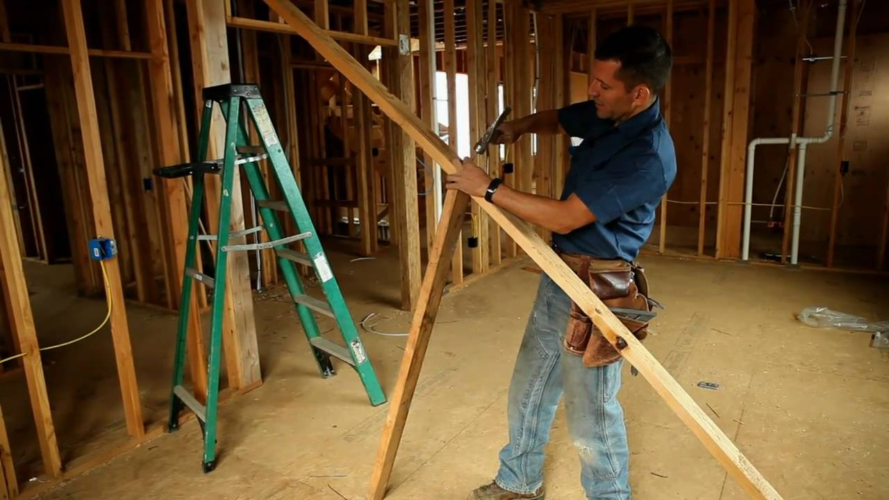 Building Skills Framing Tip How To Straighten A Wall
