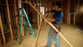 BUILDING SKILLS: Framing tip -- How to straighten a wall