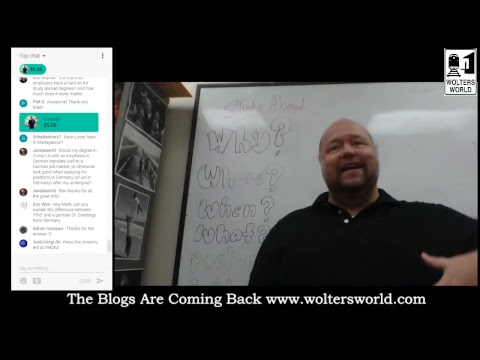 Travel Chat On Study Abroad With Prof. Mark Wolters